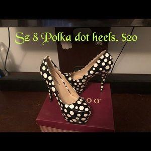 Shoes - Woman's Polka Dot Stilettos